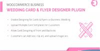 Business woocommerce wedding plugin card designer flyer