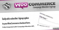 Campaign woocommerce monitor signup