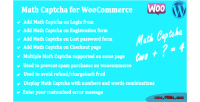 Captcha math for woocommerce