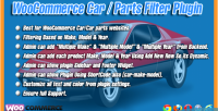 Car woocommerce plugin filter parts