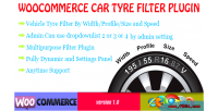Car woocommerce plugin filter tyre