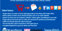 Cart woocommerce email share social and