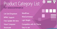 Category product woocommerce for list