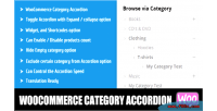 Category woocommerce accordion