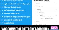 Category woocommerce accordion