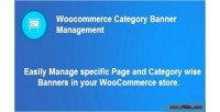 Category woocommerce banner management
