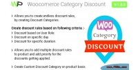 Category woocommerce discount