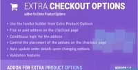 Checkout extra options for addon options product extra