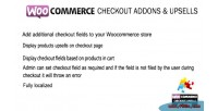 Checkout woocommerce addons upsells