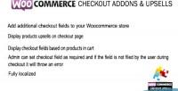Checkout woocommerce addons upsells