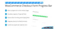 Checkout woocommerce bar progress form