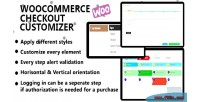 Checkout woocommerce customizer