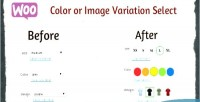 Color woocommerce, select variation image