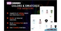 Colors woocommerce & variations for swatches