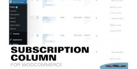 Column subscription subscriptions woocommerce for