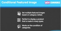 Conditional woocommerce featured image
