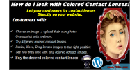 Contact colored lenses on try virtual