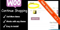 Continue woocommerce shopping link