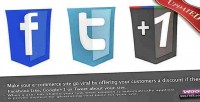 Coupon like tweet, g to discount a get coupon