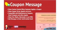 Coupon woocommerce message