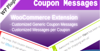 Coupon woocommerce messages