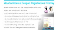 Coupon woocommerce registration overlay