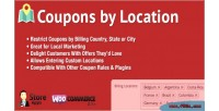 Coupons woocommerce by location