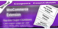 Coupons woocommerce countdown