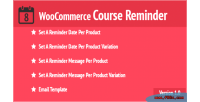 Course woocommerce reminder