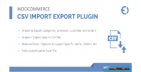 Csv woocommerce plugin export import
