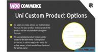 Custom uni product options