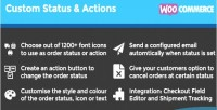 Custom woocommerce actions status order