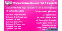 Custom woocommerce elements & text