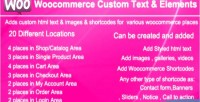 Custom woocommerce elements & text
