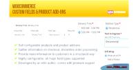 Custom woocommerce fields ons add product