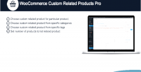 Custom woocommerce pro products related