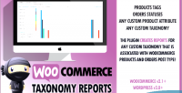 Custom woocommerce taxonomy reports