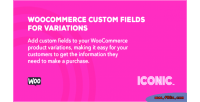 Custom woocommerce variations for fields