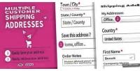 Customer multiple shipping addresses