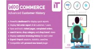 Customer woocommerce history