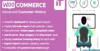 Customer woocommerce history