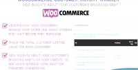 Customer woocommerce history tracker