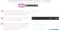 Customer woocommerce history tracker