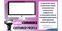 Customer woocommerce vip profile