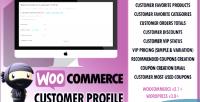Customer woocommerce vip profile