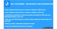 Customers woocommerce integration crm salesforce