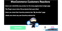 Customers woocommerce reactions