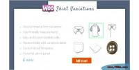 Designer shirt woocommerce variations for plugin
