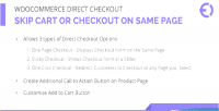 Direct woocommerce checkout skip, cart checkout page same on