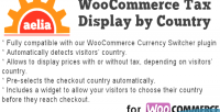 Display tax by woocommerce for country